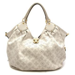Louis Vuitton White Monogram Mahina Leather Tote Bag