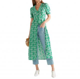 Rixo Jackson floral-print crepe de chine midi dress