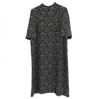 Marni Printed Black Shift Dress
