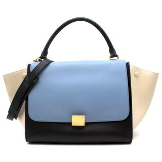 Celine Leather Tri-colour Trapeze Top handle Bag