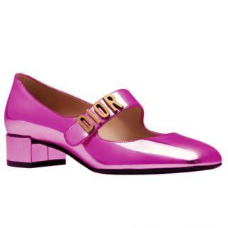 Dior Baby-D Mirrored Pink Mary-Jane Ballerinas