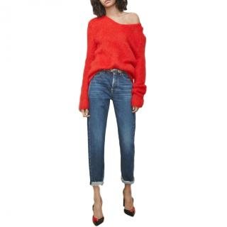 Saint Laurent Red Mohair Sweater