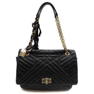 Lanvin Black Happy Quilted Leather Gold-toned Shoulder Bag