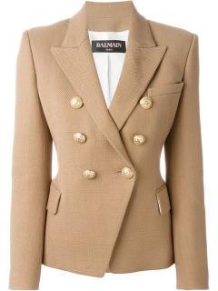 Balmain Olive Green Tailored Blazer