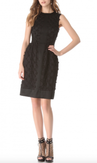 Temperley Black Lattice Ribbon Dress.