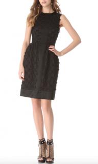 Temperley Black Lattice Ribbon Dress.