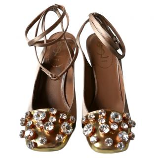 Yves Saint Laurent Twinkletoes Satin Sandals