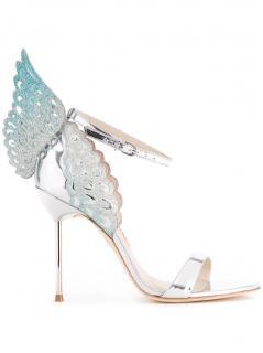 Sophia Webster Silver & Blue Evangeline sandals
