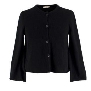 Prada Black Knit Button-up Cardigan