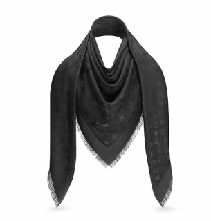 Louis Vuitton Black Monogram Shawl
