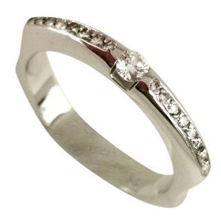 bespoke 18ct Gold Diamond Set Ring