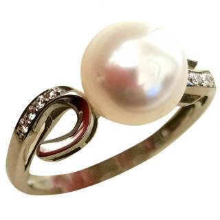 Bespoke Akoya Pearl Diamond Ring