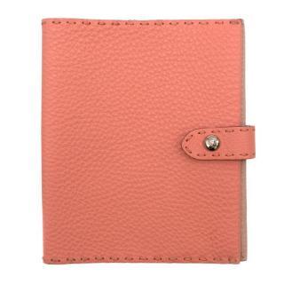 Fendi Soft Leather Pink Passport Case
