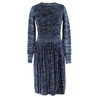 Jonathan Saunders Blue Leonard Knit Jumper & Skirt Set