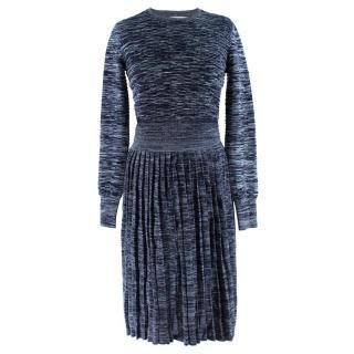 Jonathan Saunders Blue Leonard Knit Jumper & Skirt Set