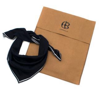 Connolly Wool Striped Trim Navy Neck Tie