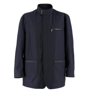 Salvatore Ferragamo Navy Padded Trench Coat