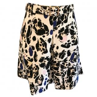 Just Cavalli Printed A-Line Mini Skirt