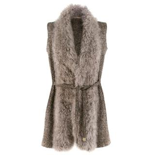 Fedeli Wool Blend Gilet with Waist tie