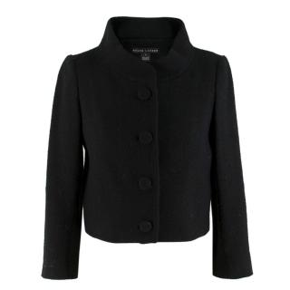 Ralph Lauren Black Wool Blend Short Jacket
