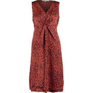 Clements Ribeiro Animal Print Chestnut Dress
