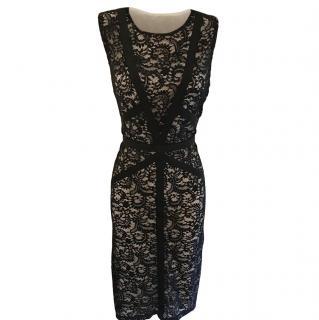 Gerard Darel Black & Nude Lace Dress