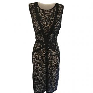 Gerard Darel Black & Nude Lace Dress