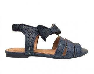 See By Chloe Leather Bow Sandals