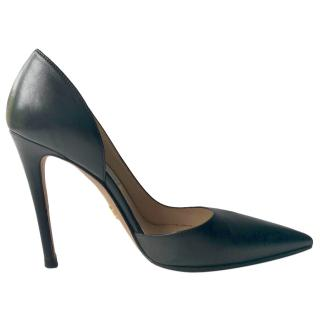 Prada Black Half D'Orsay Pumps