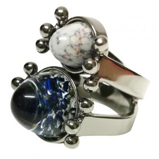 Moutton Collet Crystal Dome Ring