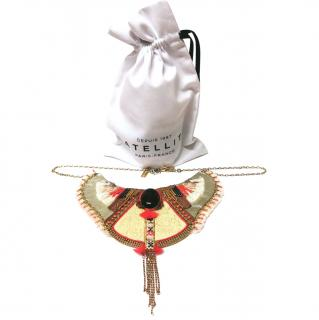 Satellite Beaded Embellished Collar Necklace