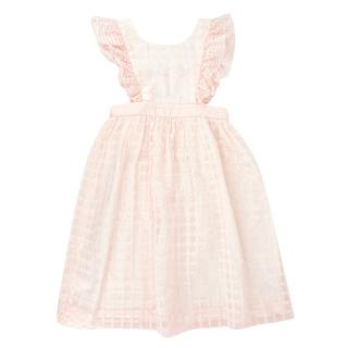 Bonpoint Pale Pink Girl's 4 Years Checkered Dress