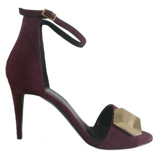 Pierre Hardy open toe purple side ankle strap sandals