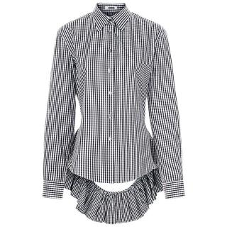 Jourden Gingham Peplum Back Blouse