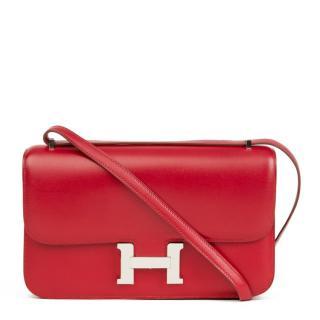 Hermes Constance Elan in Rubis Tadelakt Leather