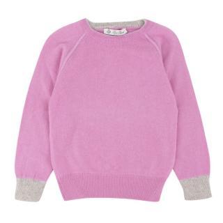 Loro Piana Girl's Purple Cashmere Blend Jumper