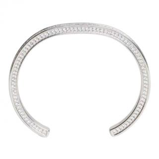 Celine rhodium pave crystal open bracelet