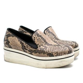 Stella McCartney Python Print Platform Loafers