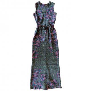 Erdem Floral Silk Twill Sleeveless Gown