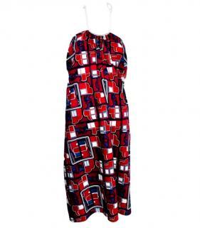 Hermes Multi-Coloured Halterneck Dress