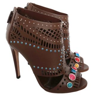 Gucci Lasercut Lifford Jewelled Booties