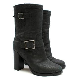 Jimmy Choo Grey Metallic heeled Ankle Boots