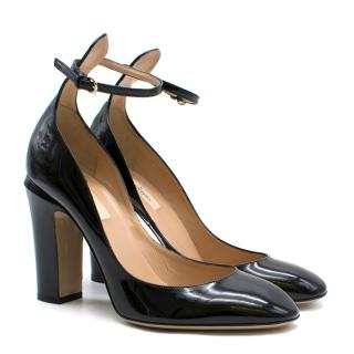 Valentino Garavani Black Patent Leather Tango Pumps