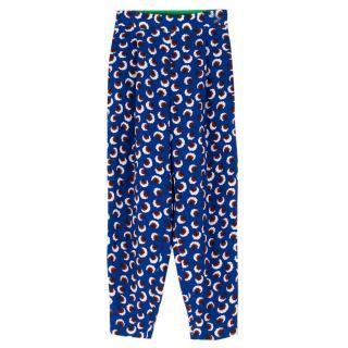 Stella McCartney Silk Blue Printed Lexi Trousers
