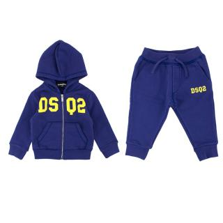 Dsquared2 Baby 12M Cotton Zipped Hoodie & Sweatpants Set