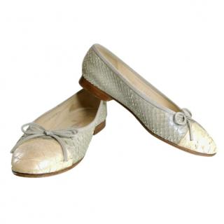Chanel Python Ballerina Flats