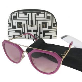 Emilio Pucci Pink Oversized Sunglasses