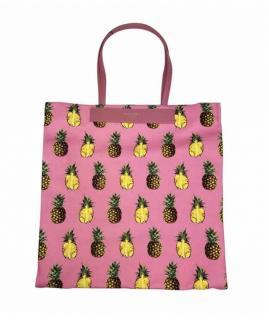 Dolce & Gabbana Pink Pineapple Print Love Tote