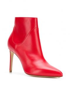 Francesco Russo Nappa Kiss Rosso Ankle Boots