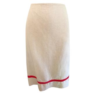 Paul Smith Linen Wrap Skirt